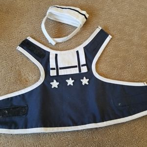 Adorable doggie sailor suit with hat. Perfect for